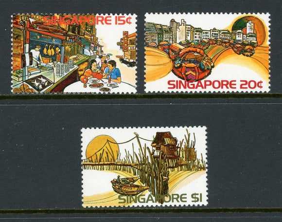 Singapore Scott #222-224 MNH Tourism CV$6+
