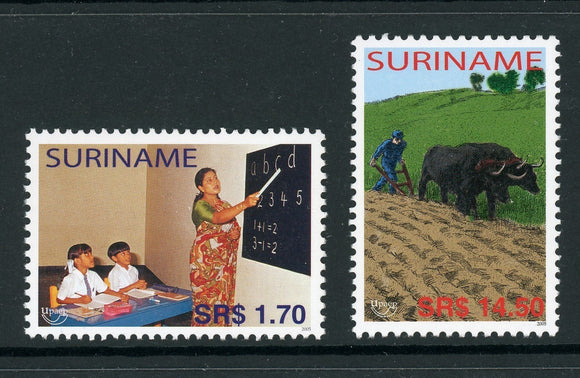 Surinam Scott #1326-1327 MNH America Issue Fight Against Poverty CV$12+