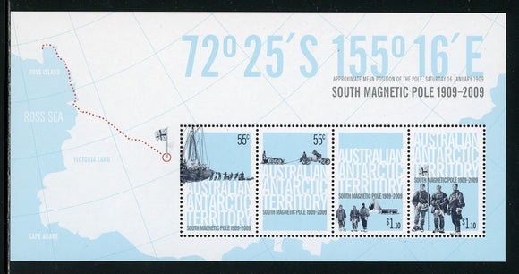 Australian Antarctic Territory Scott #L147b MNH S/S South Magnetic Pole CV$11+
