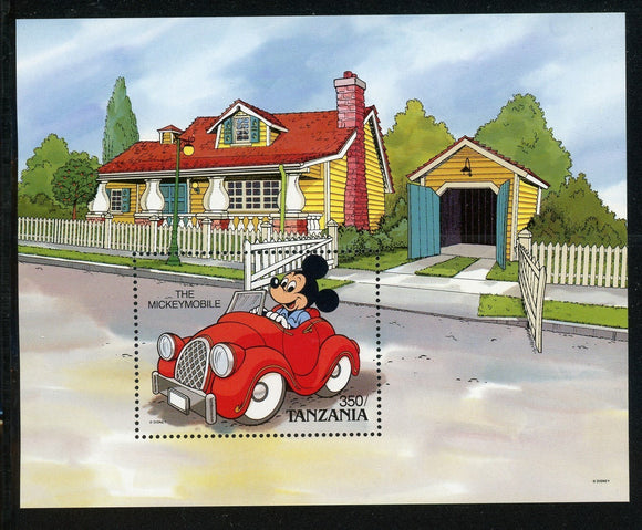 Tanzania Scott #579 MNH S/S Mickey Mouse DISNEY CV$6+