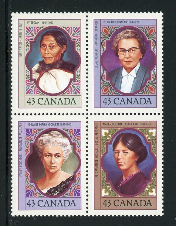 Canada Scott #1459a MNH BLOCK Canadian Women CV$2+