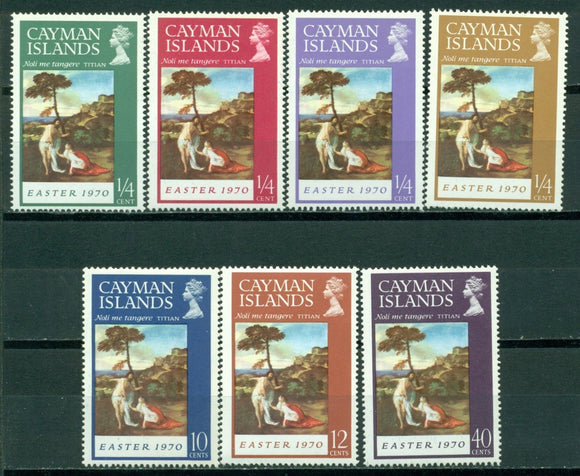 Cayman Islands Scott #251-257 MNH Easter 1970 ART $$