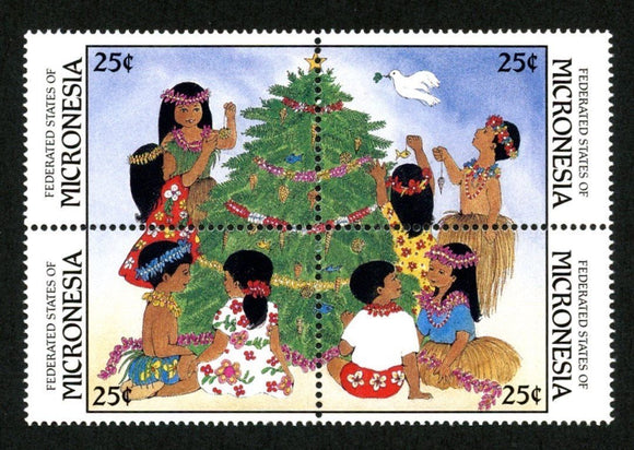 Micronesia Scott #70a MNH BLOCK Christmas 1988 $$