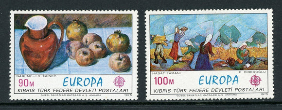 Northern Cyprus Scott #26-27 MNH Europa Paintings ART CV$5+