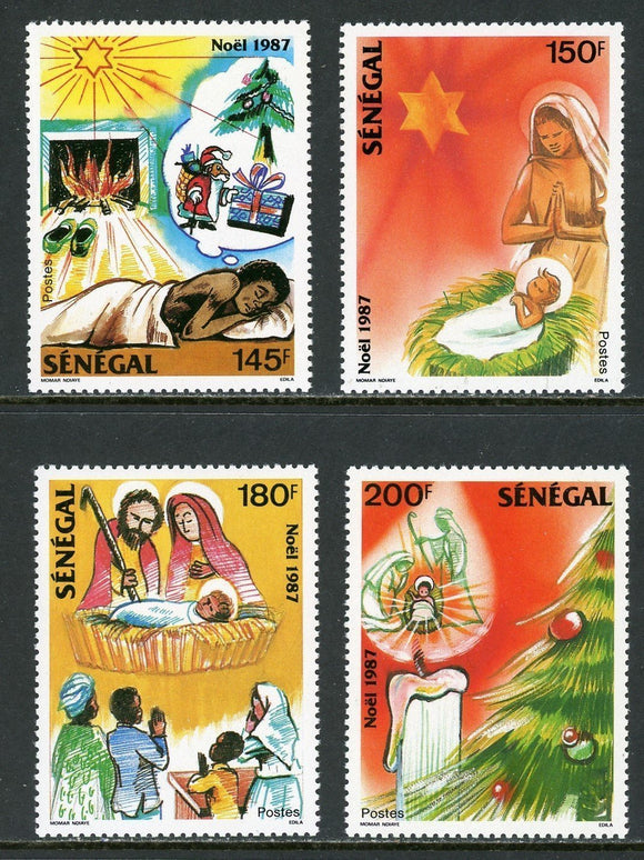 Senegal Scott #757-760 MNH Christmas 1987 ART CV$6+
