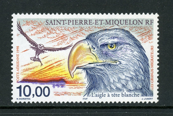 St. Pierre & Miquelon Scott #C75 MNH Bald Eagle Birds FAUNA CV$4+