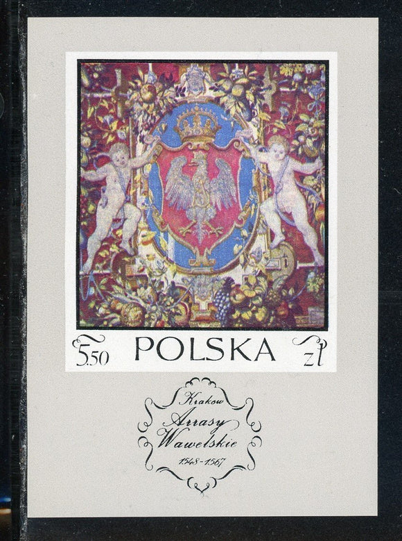 Poland Scott #1779 MNH S/S Tapestries in Wawel Castle $$