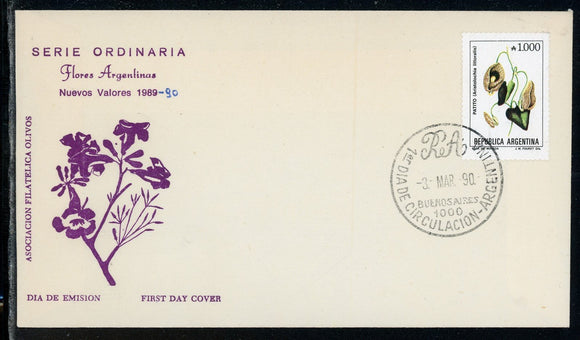 Argentina Scott #1689 FIRST DAY COVER Flowers FLORA $$