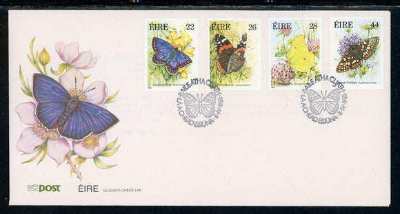 Ireland Scott #612-615 FIRST DAY COVER Butterflies Flowers FAUNA $$