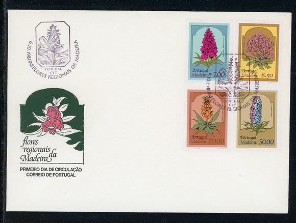 Madeira Scott #77-80 FIRST DAY COVER Plants Flowers FLORA $$