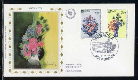 Monaco Scott #1440-1441 FIRST DAY COVER Orchids Flowers FLORA $$