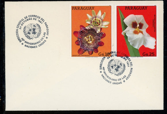 Paraguay Scott #2095-2096 COVER Orchids Plants FLORA UN 45th ANN $$