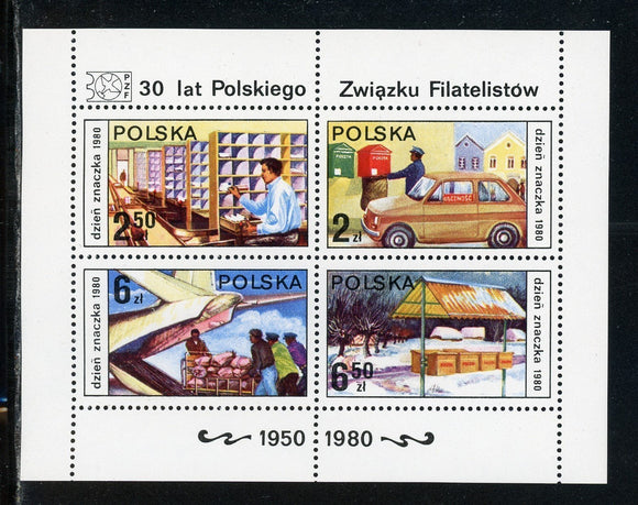 Poland Scott #2359-2362 MNH S/S Stamp Day $$
