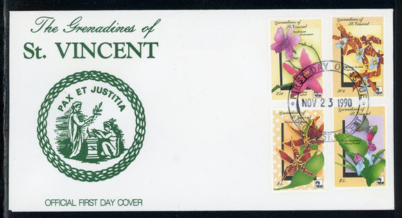 St. Vincent Grenadines Scott #716//722 FIRST DAY COVER Orchids Flowers FLORA $$