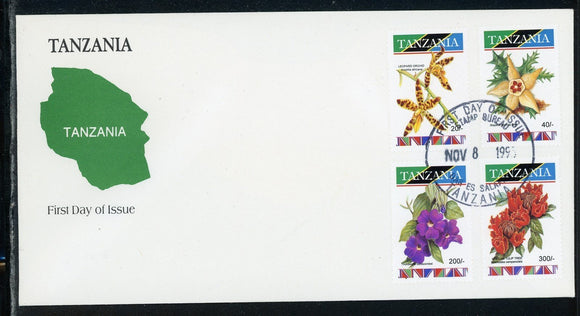 Tanzania Scott #1036//1046 FIRST DAY COVER Orchids Flowers FLORA $$