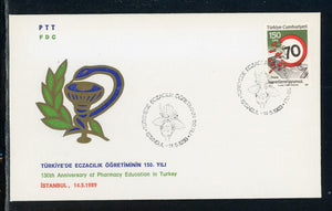 Turkey Scott #2370 FIRST DAY COVER Road Safety Orchid CACHET $$