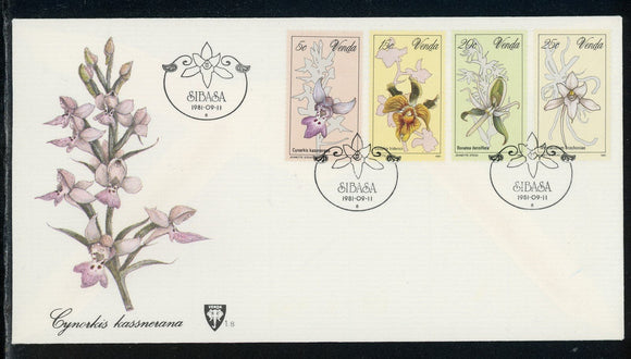 Venda Scott #48-51 FIRST DAY COVER Orchids Flowers FLORA $$