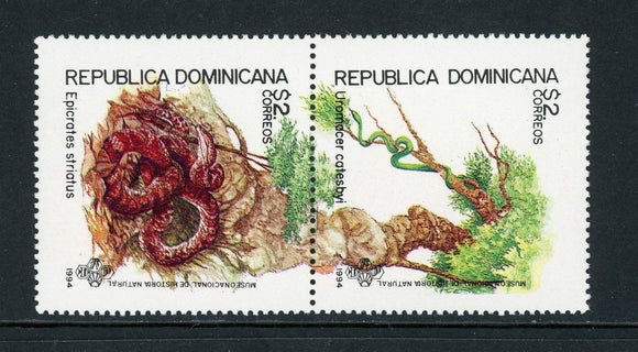 Dominican Republic Scott #1179a MNH PAIR Snakes FAUNA CV$6+