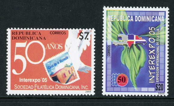 Dominican Republic Scott #1409-1410 MNH Interexpo '05 Philatelic EXPO CV$11+