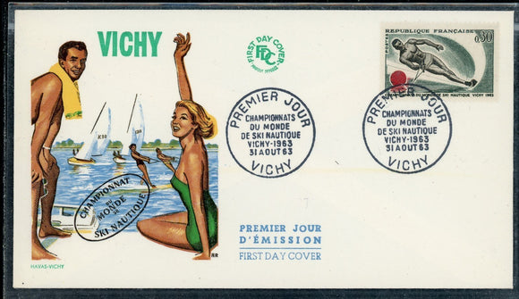France Scott #1073 FIRST DAY COVER World Water Skiing Championships SPORTS $$