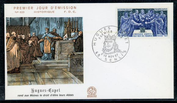 France Scott #1199 FIRST DAY COVER Hugh Capet King of France $$