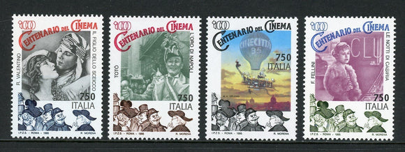 Italy Scott #2049-2052 MNH Motion Pictures Centenary CV$4+