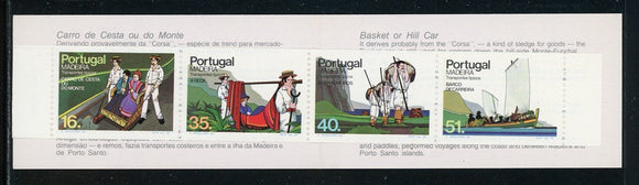 Madeira Scott #100a MNH BOOKLET COMPLETE Typical Transportation CV$9+