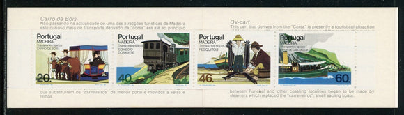 Madeira Scott #107a MNH BOOKLET COMPLETE Typical Transportation CV$5+