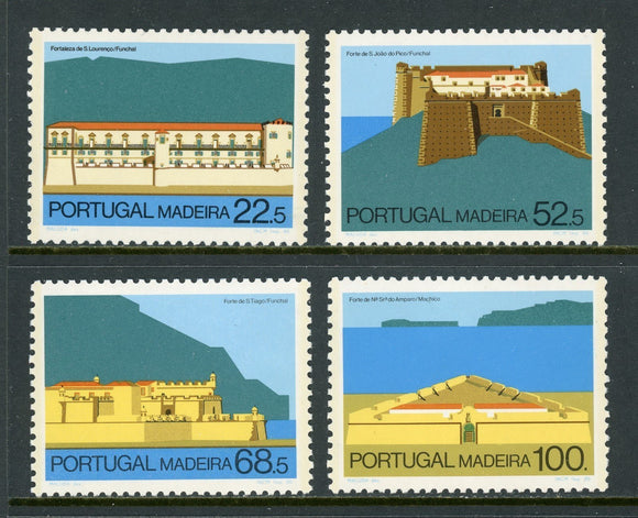 Madeira Scott #111-114 MNH Forts in Funchal CV$7+
