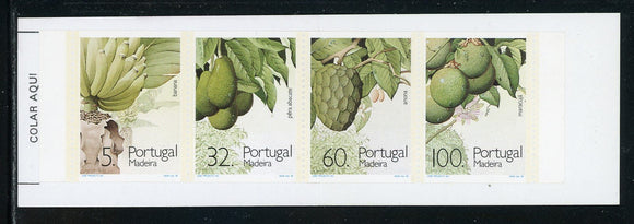 Madeira Scott #142ab MNH BOOKLET COMPLETE Subtropical Fruits and Plants CV$6+