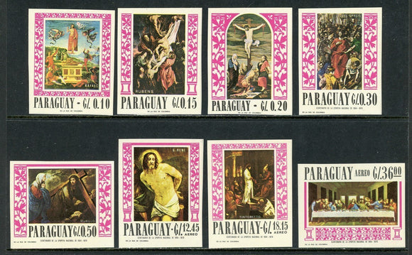 Paraguay Scott #1004-1007IMP MNH Holy Week Paintings ART CV$15+