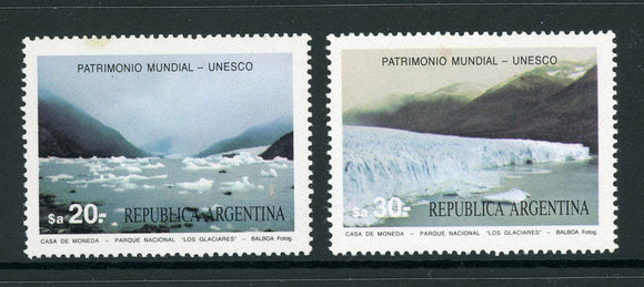 Argentina Scott #1482-1483 MNH Glacieres National Park $$