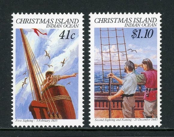 Christmas Island Scott #248-249 MNH 1st Sighting of Christmas Island ANN CV$4+