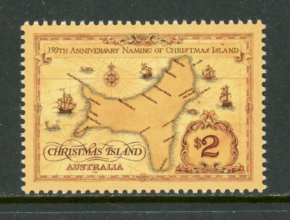 Christmas Island Scott #357 MNH Naming of Christmas Island 350th ANN MAP CV$3+