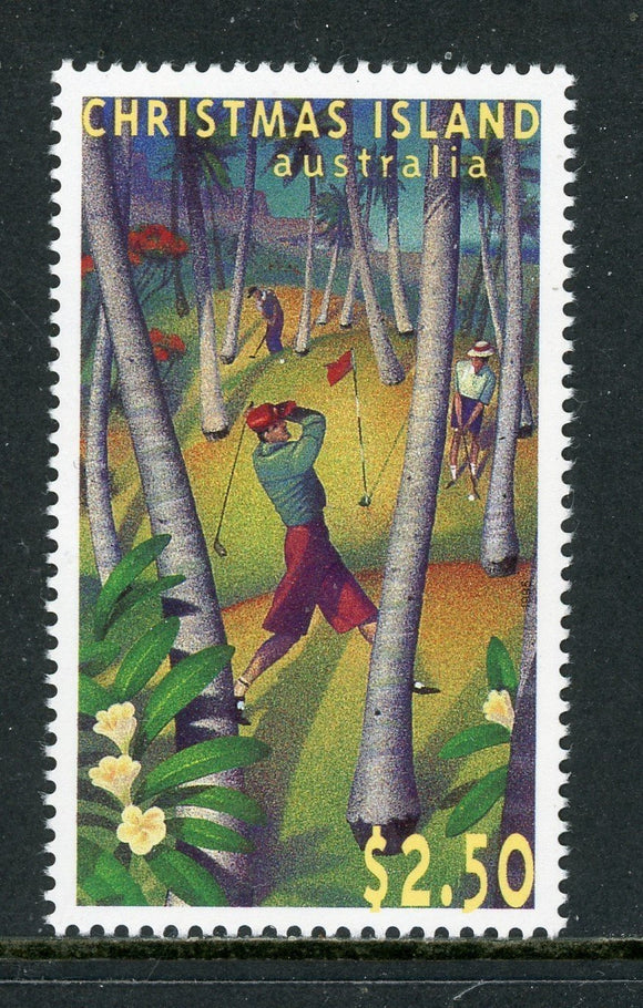 Christmas Island Scott #369 MNH Christmas Island Golf Course ANN SPORTS CV$6+