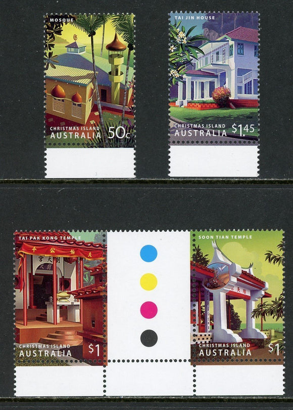 Christmas Island Scott #457-459 MNH Buildings CV$9+