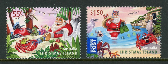 Christmas Island Scott #497-498 MNH Christmas 2011 CV$5+