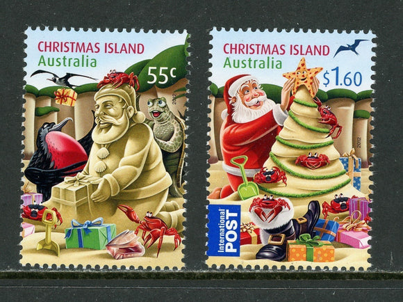 Christmas Island Scott #506-507 MNH Christmas 2012 CV$5+