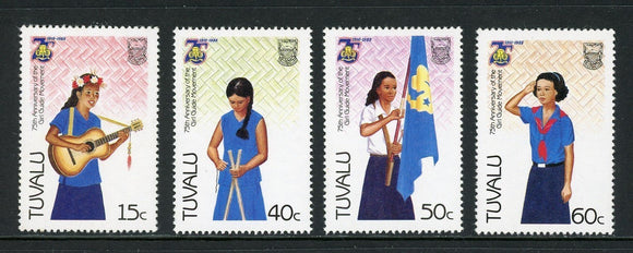 Tuvalu Scott #328-331 MNH Girl Guide Movement 75th ANN CV$2+