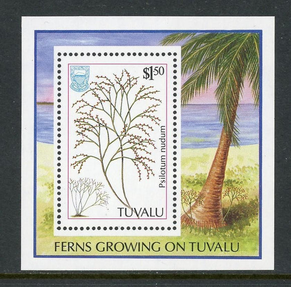 Tuvalu Scott #442 MNH S/S Ferns Growing in Tuvalu CV$3+