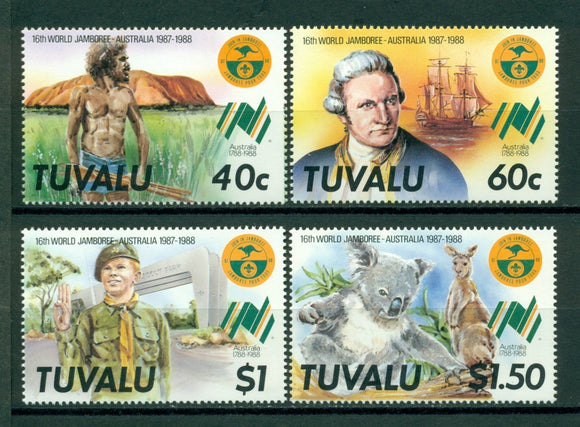Tuvalu Scott #460-463 MNH World Scouting Jamboree Australia CV$2+