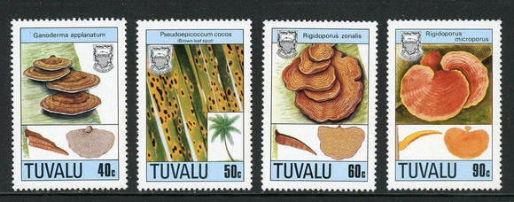 Tuvalu Scott #497-500 MNH Mushrooms FLORA CV$5+
