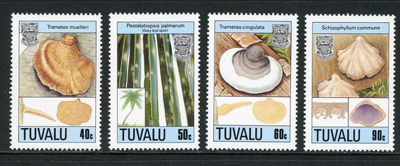 Tuvalu Scott #520-523 MNH Mushrooms FLORA CV$10+