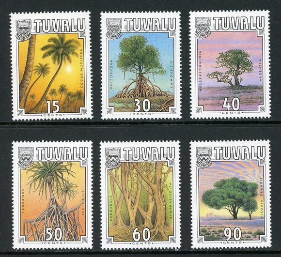 Tuvalu Scott #533-538 MNH Tropical Trees FLORA CV$9+