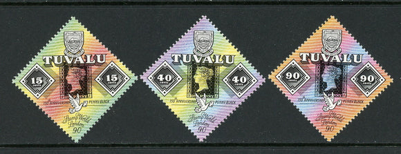 Tuvalu Scott #539-541 MNH Penny Black 150th ANN PHILATELY CV$9+