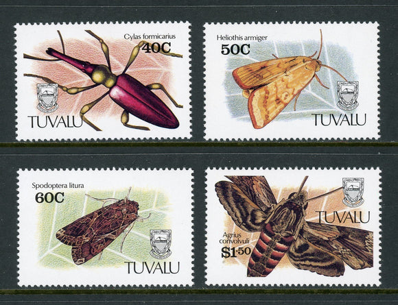 Tuvalu Scott #566-569 MNH Insects FAUNA CV$11+
