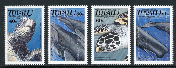 Tuvalu Scott #570-573 MNH Endangered Species FAUNA CV$9+