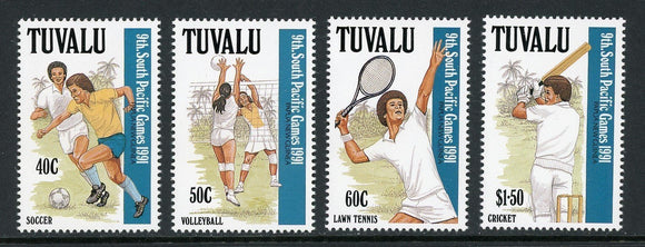 Tuvalu Scott #574-577 MNH South Pacific Games SPORTS CV$11+