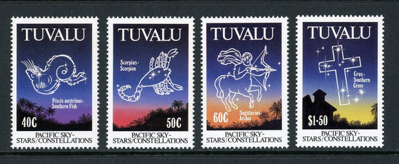 Tuvalu Scott #586-589 MNH Celestial Constellations CV$12+