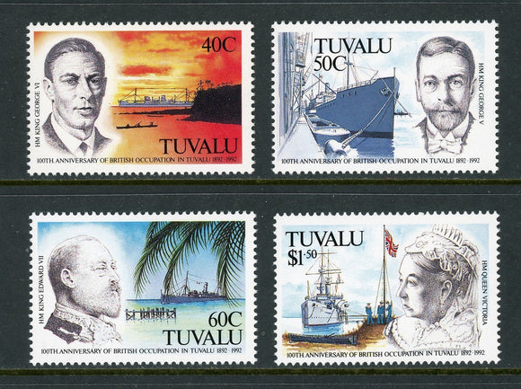 Tuvalu Scott #590-593 MNH Annexation of the Gilbert and Ellice Islands CV$12+